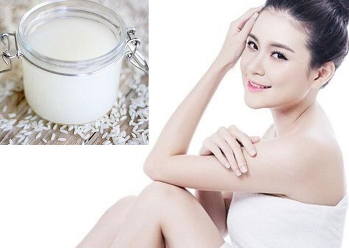 Cách làm trắng da toàn thân bằng nước vo gạo