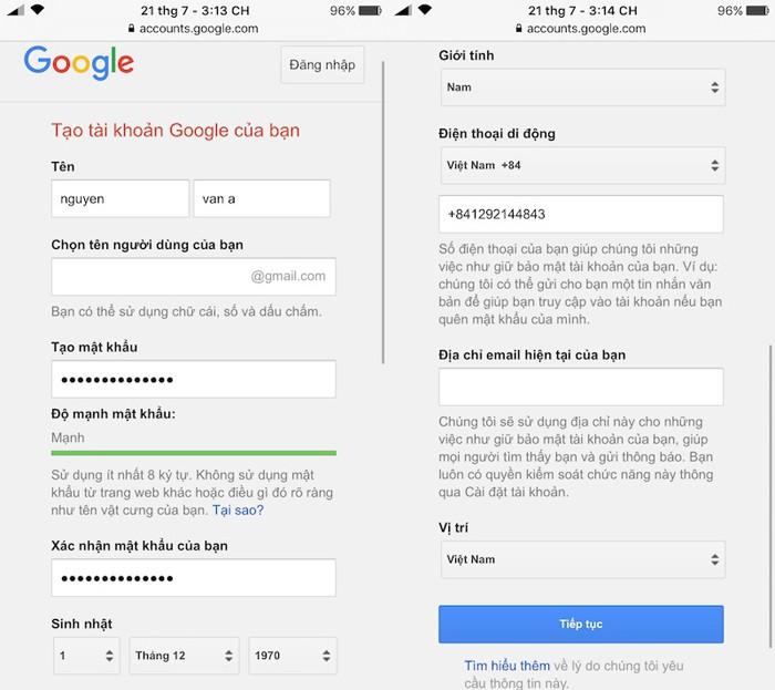 Cách tạo tài khoản Email trên iPhone