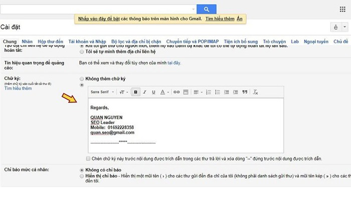 Chữ ký email