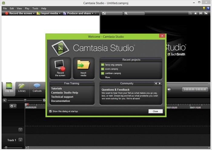 Camtasia Studio đơn giản, dễ dàng thao tác với video ngắn