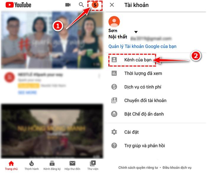 Cách lập kênh Youtube