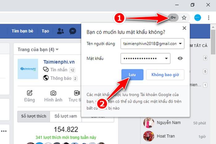 Cách lưu mật khẩu Facebook trên Google Chrome