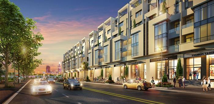 Shophouse sẽ được bố trí ở tầng trệt tại các khu căn hộ, cạnh đường chính