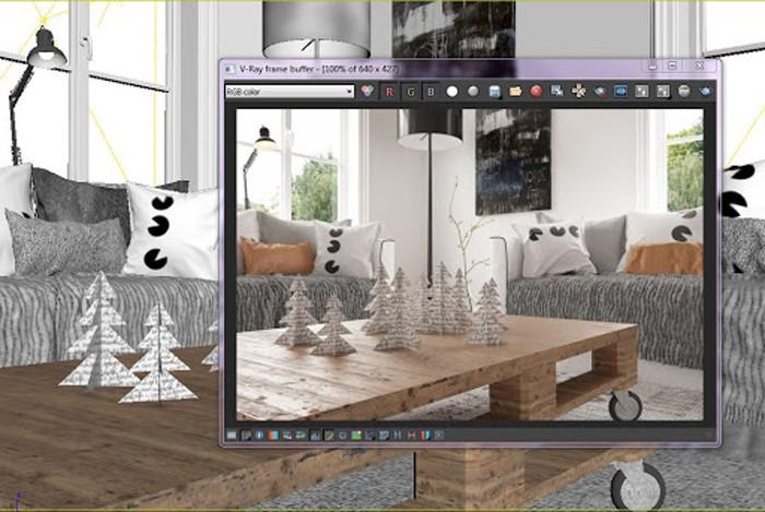 V-Ray dành cho các backgrounds và hình ảnh tĩnh có độ phân giải cao