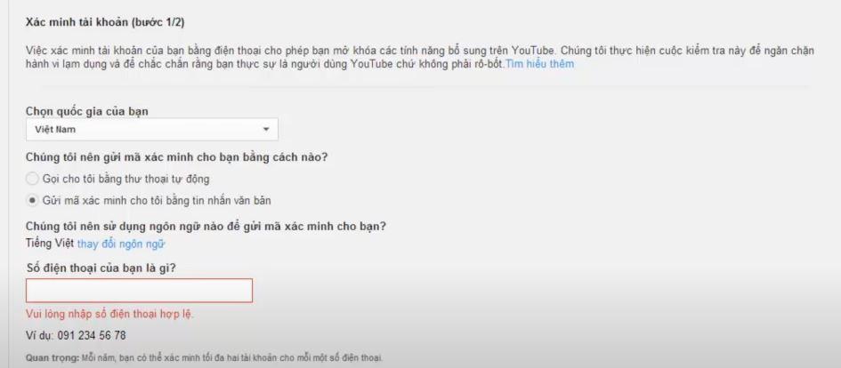 Cách đăng ký kiếm tiền trên Youtube 18