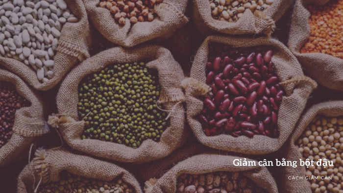 Cách giảm cân bằng bột đậu