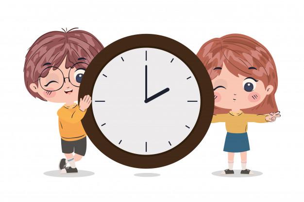 Cách 2: Số phút + to + Số giờ (Cách nói giờ kém)