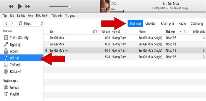 Mở ứng dụng iTune