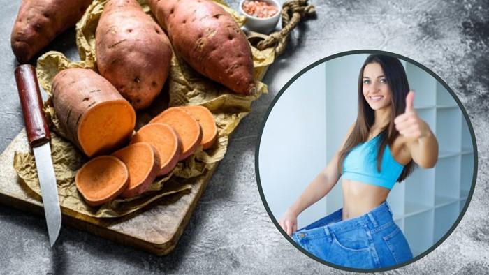 Ăn khoai lang kèm theo một số loại trái cây chứa nhiều loại vitamin giúp giảm cân hiệu quả