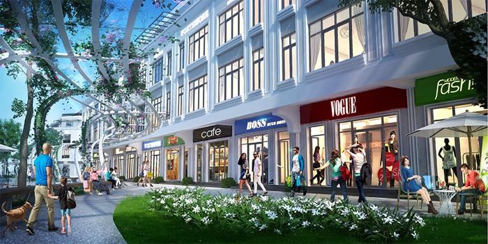 Shophouse sẽ được xây dựng thành 2 tầng tách biệt hoặc hơn