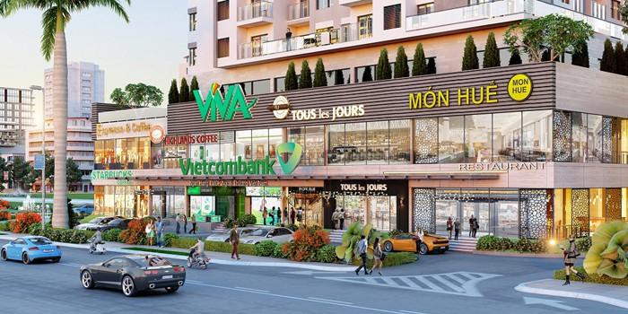 Shophouse là căn hộ dưới dạng nhà ở kết hợp cửa hàng kinh doanh thương mại