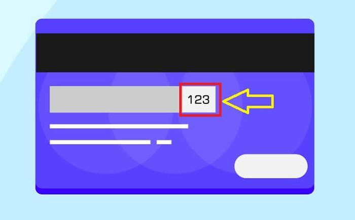 Số CVV/CVC gồm có 3 chữ số in ở mặt sau thẻ tín dụng