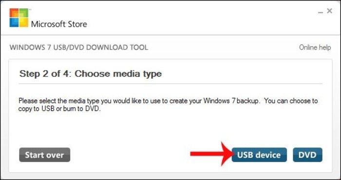 Màn hình sẽ hiện lên hỏi bạn muốn cài theo hình thức nào hãy chọn mục usb device.