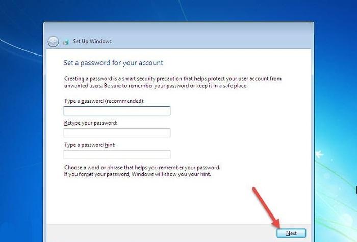 Cài đặt mật khẩu đăng nhập vào máy