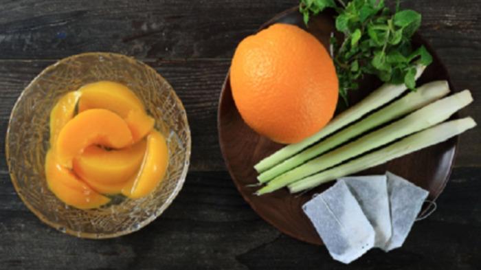 Nguyên liệu cho trà đào cam sả