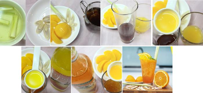 Công thức trà đào cam sả