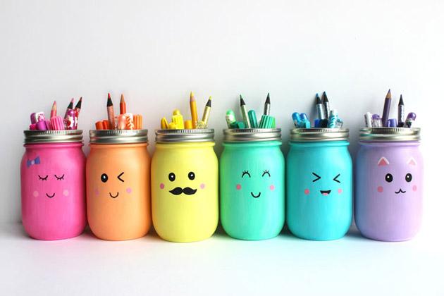 Những chiếc hộp đựng bút xinh xắn tự làm từ vật dụng có sẵn trong nhà