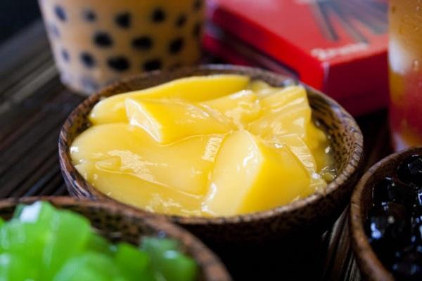 Pudding giúp món trà sữa thêm hấp dẫn