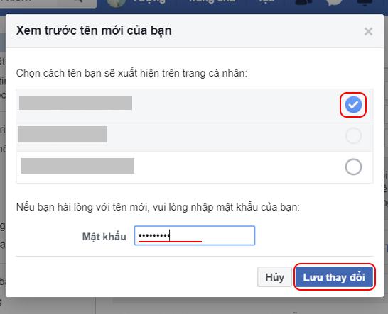 Cách đổi tên facebook trên máy tính.