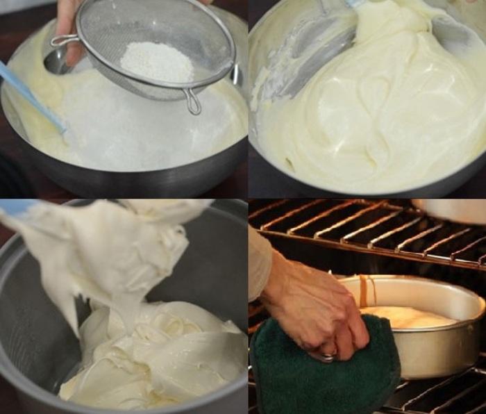 Đánh đều hỗn hợp bột và nướng