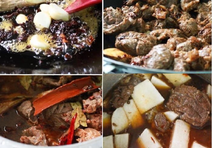 Cách nấu bò kho Tứ Xuyên