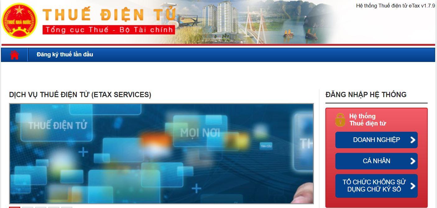 Đăng nhập vào thuedientu.gtd.gov.vn với tài khoản được cấp