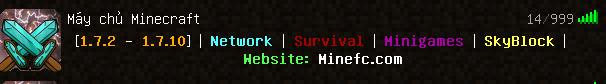 Vào Server Minecraft FC