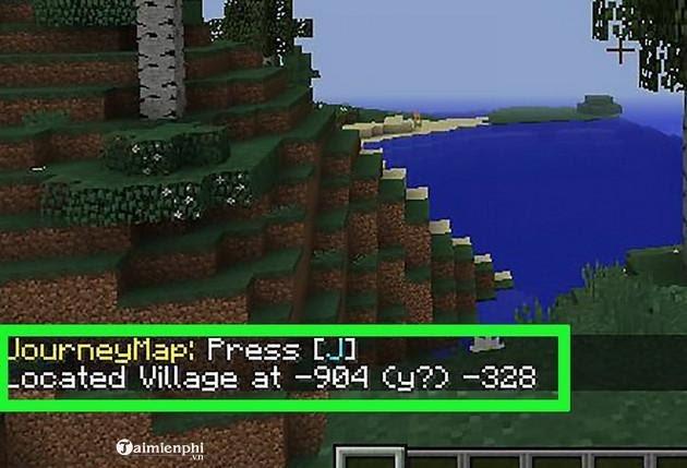 Bước 4: Xác định vị trí ngôi làng
