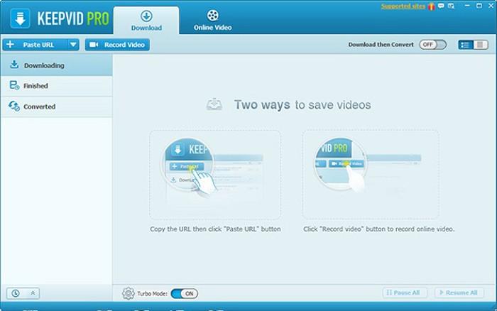 Keepvid là ứng dụng hỗ trợ tải video từ nhiều nguồn khác nhau