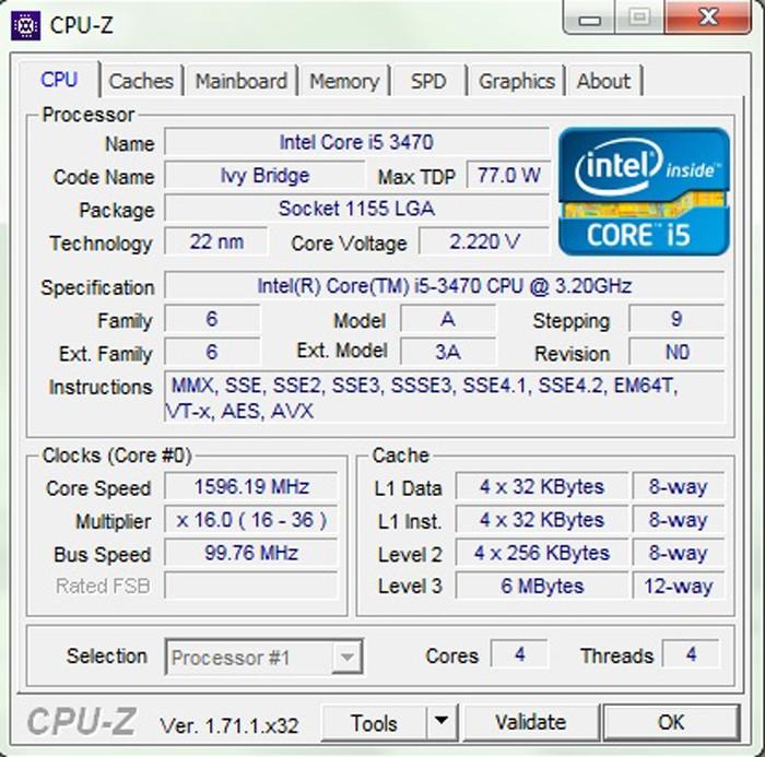 Muốn kiểm tra bằng CPU-Z trước tiên bạn phải cài đặt phần mềm này