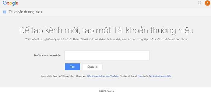 Muốn truy cập vào kênh youtube, cần có tài khoản Google cá nhân