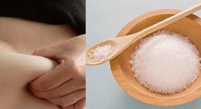 Sử dụng muối để chườm là cách giảm mỡ bụng hiệu quả