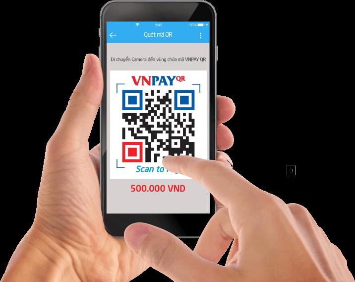 VNPAY là ứng dụng thanh toán bằng cơ chế quét mã QR được tích hợp luôn trên ứng dụng Mobile Banking
