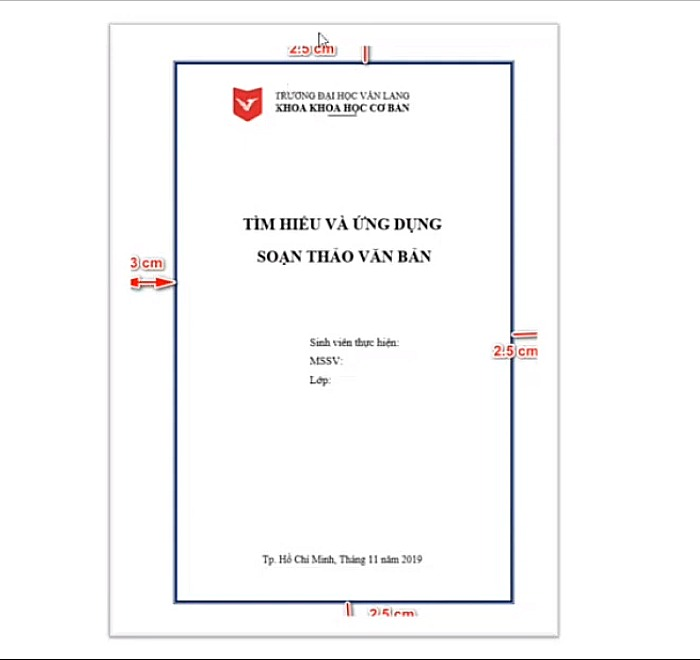 Từ trang giấy vào trang bìa là 3cm đối với tay trái, còn tay phải la 2.5cm, phía trên và dưới cũng 2.5 cm