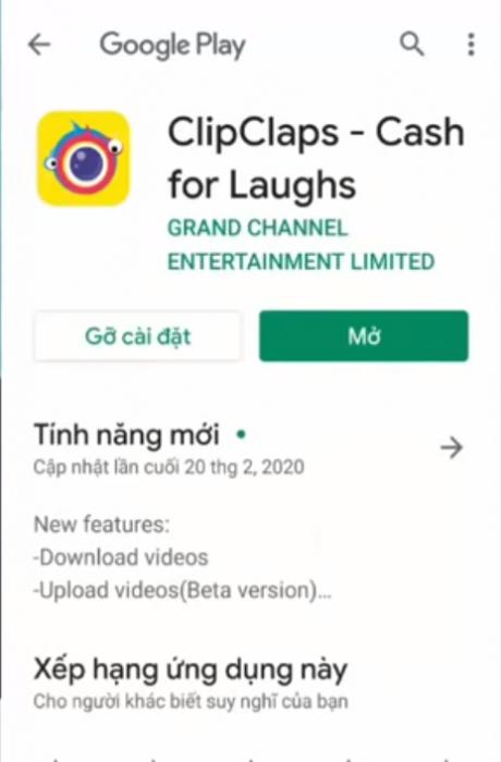Tải app Clip Claps tại CH Play