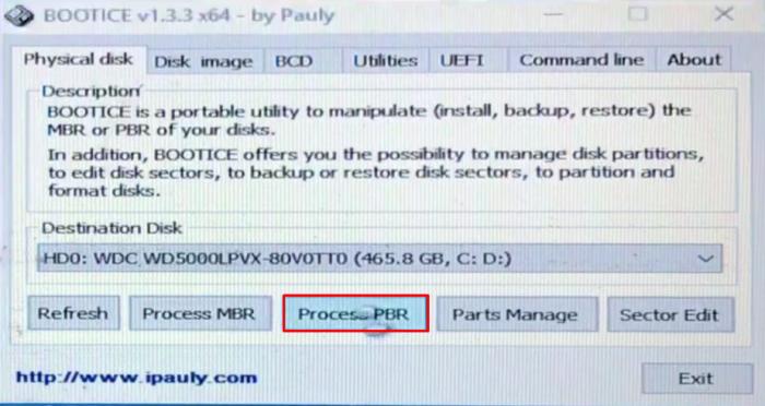 Khi đó bạn lại tiếp tục bấm chọn Process PBR