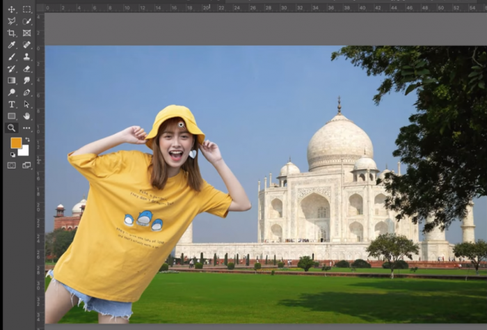 Chọn Edit và Paste ảnh copy vào khung cảnh