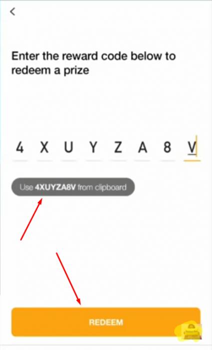 Click vào Use sẽ tự động nhập mã cho bạn và bấm Redeem