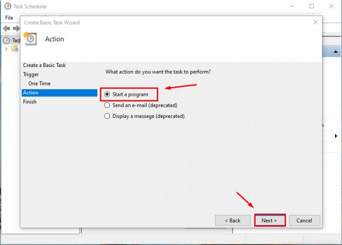 Nhập chứ Shutdown vào ô Program/script:, Và nhập /s/f vào ô Add arguments(optional) và bạn bấm Next