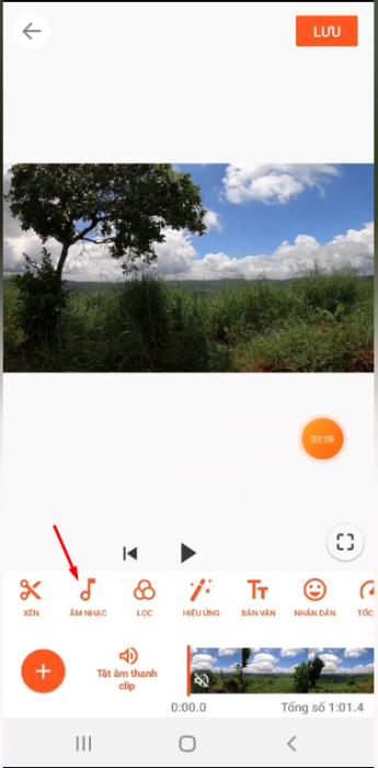Thêm bài nhạc vào video