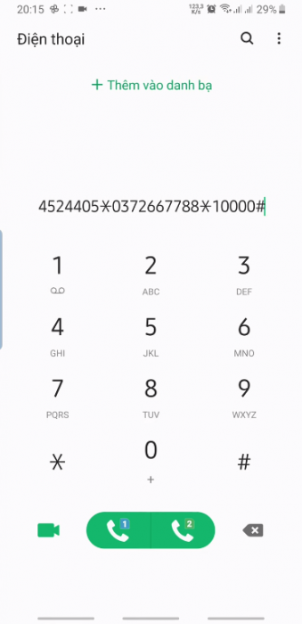 Nhập *136*Nhập mật khẩu *Số điện thoại nhận tiền* số tiền chuyển # rồi bạn bấm nút gọi.