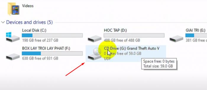 Bạn Click và This PC sẽ có ổ đĩa G