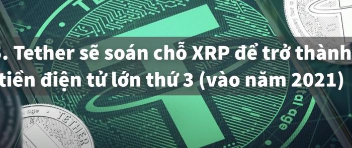 Tether sẽ soán chỗ XRP để trở thành tiền điện tử lớn thứ 3( Vào năm 2021)