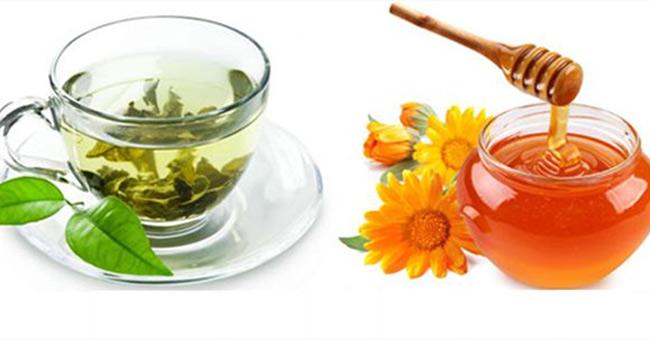 Giảm cân bằng mật ong và nước trà.