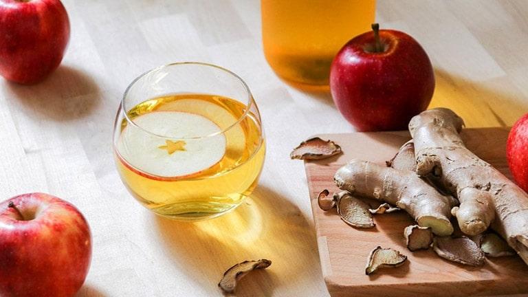 Sử dụng giấm táo và gừng giúp giảm cân hiệu quả