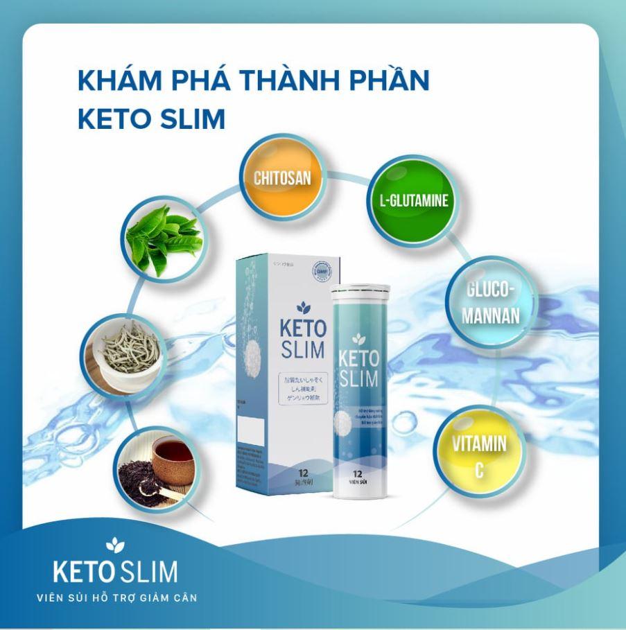 Viên sủi Keto Slim chứa thành phần gì giúp bạn giảm cân?