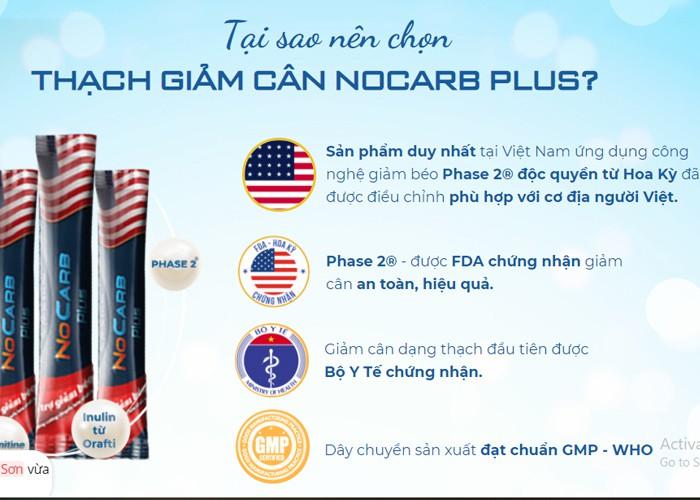 NoCarb Plus - Bí quyết hoàn hảo để giữ gìn sắc đẹp