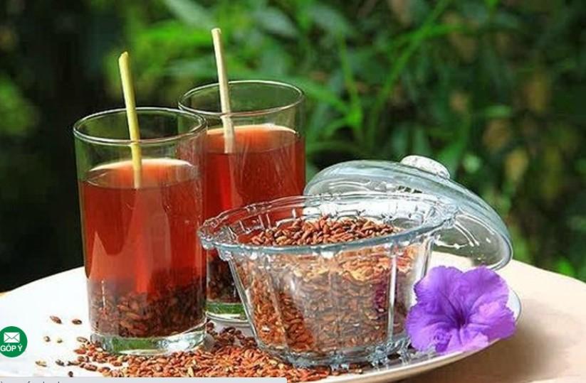 Làm trà gạo lứt giảm cân