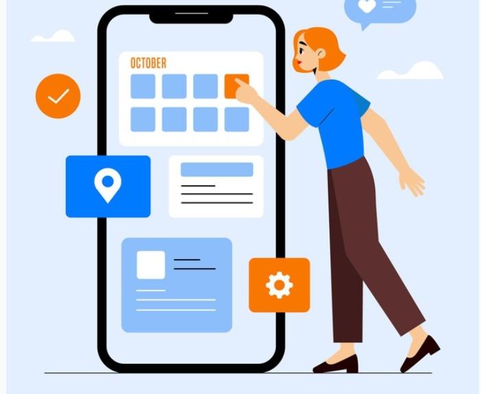 Sử dụng app kiểm soát lịch tập để ghi lại lịch trình tập