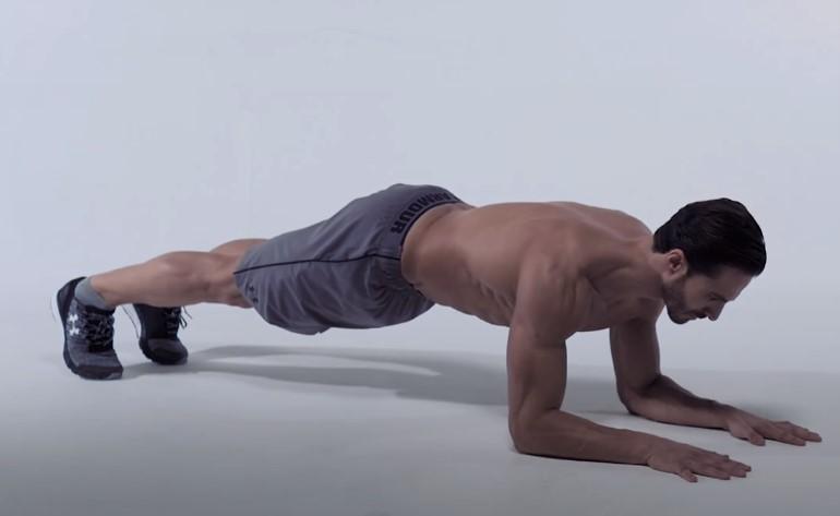Tư thế Plank và chống đẩy